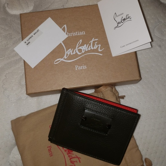 9e2b1b63766 Brand new Christian louboutin mens clipsos wallet NWT